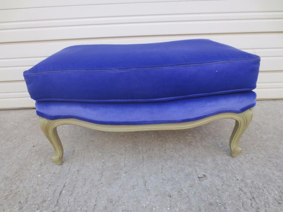 Footrest French Provincial Foot Stool for Bergere Ottoman Hollywood Regency