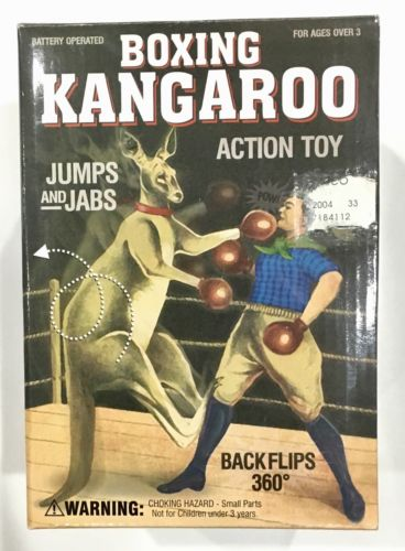 Boxing Kangaroo Action Toy - 360 Degree Backflips! - Westminster - Jumps & Jabs!