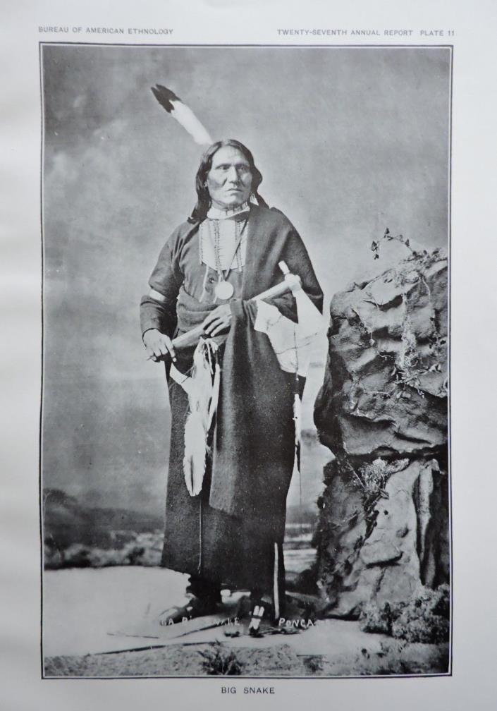 Big Snake Native American Ethnology Art Print 1911