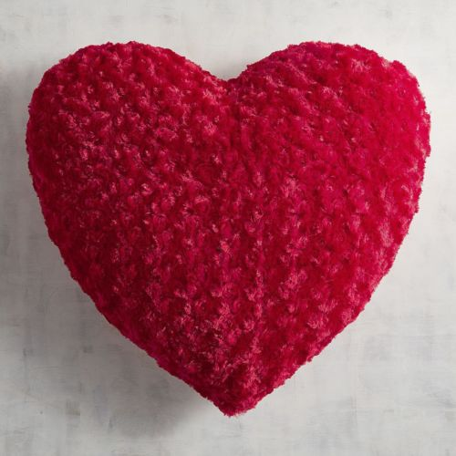 Red Fuzzy Heart Pillow