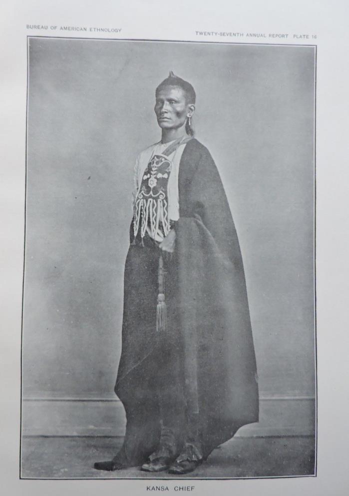 Kansa Chief Native American Ethnology Art Print 1911