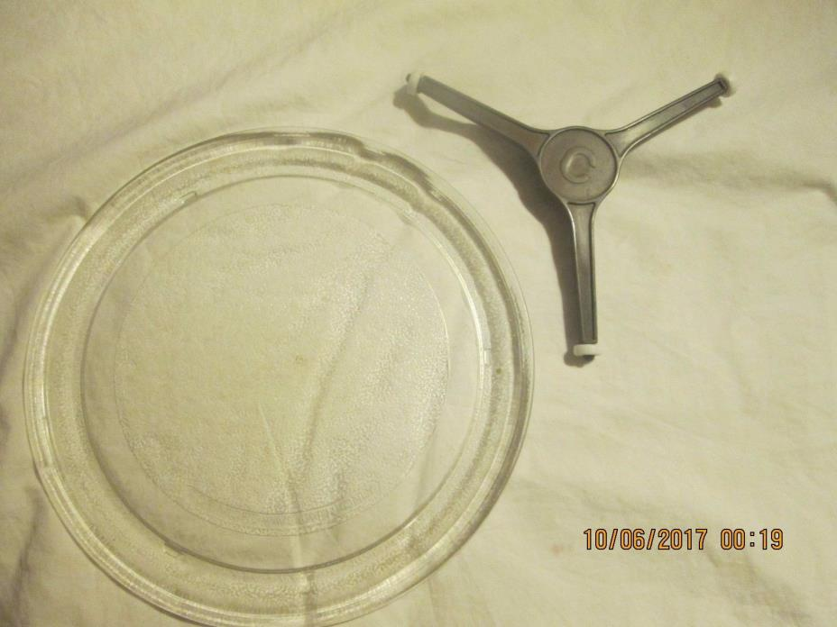 GE microwave Glass + 5888W2A010-2 LG/ Goldstar Microwave Roller Wheel Turnable