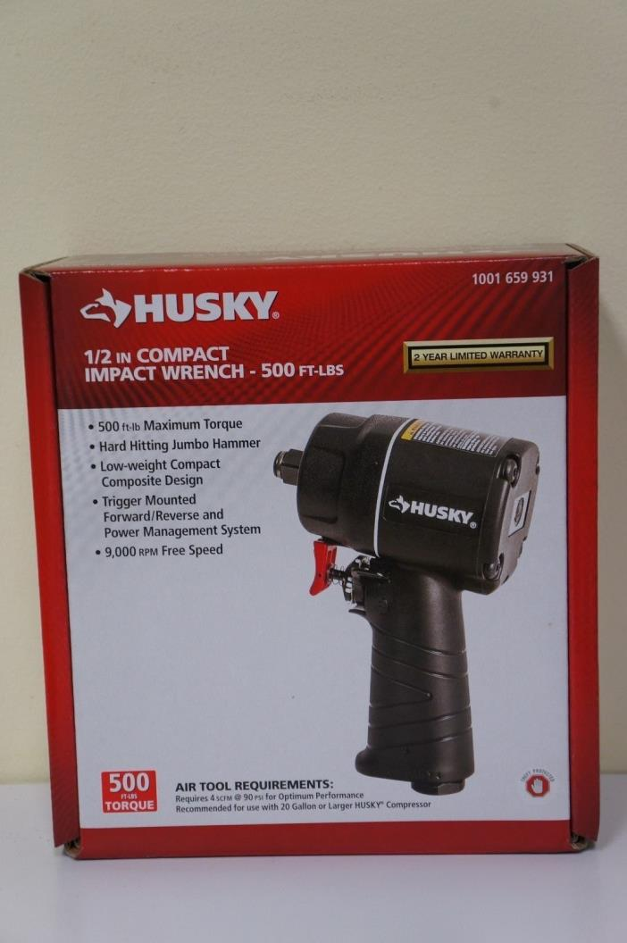 NEW Husky H4435 1/2 in. Compact Impact Wrench 500 FT-Lbs 1001 659 931