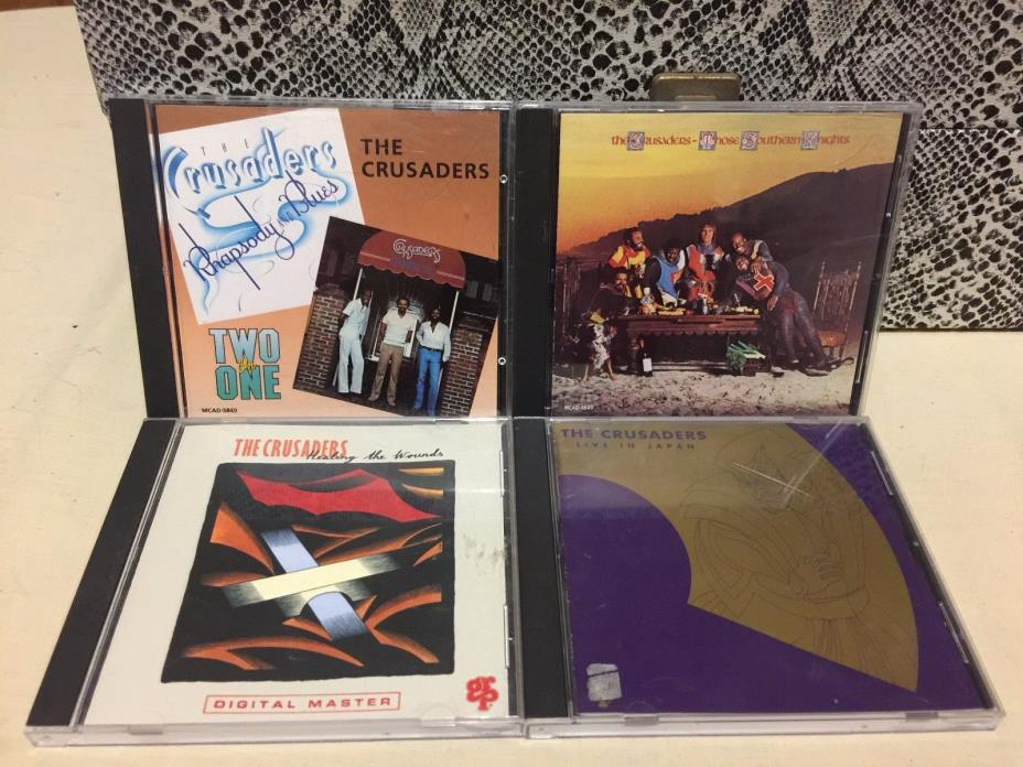 The Crusaders Rare OOP CD Lot Live in Japan Rhapsody In Blues Standing Tall
