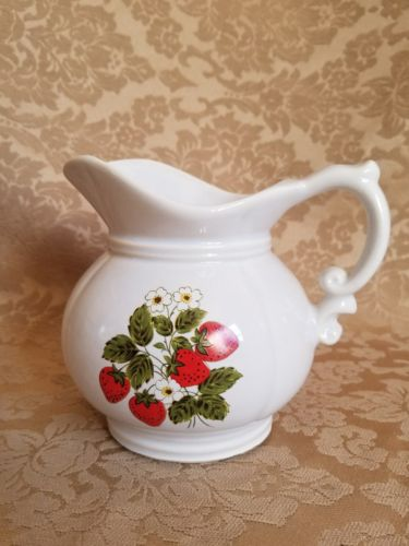 Vintage Mccoy Pitcher #7528 Strawberries