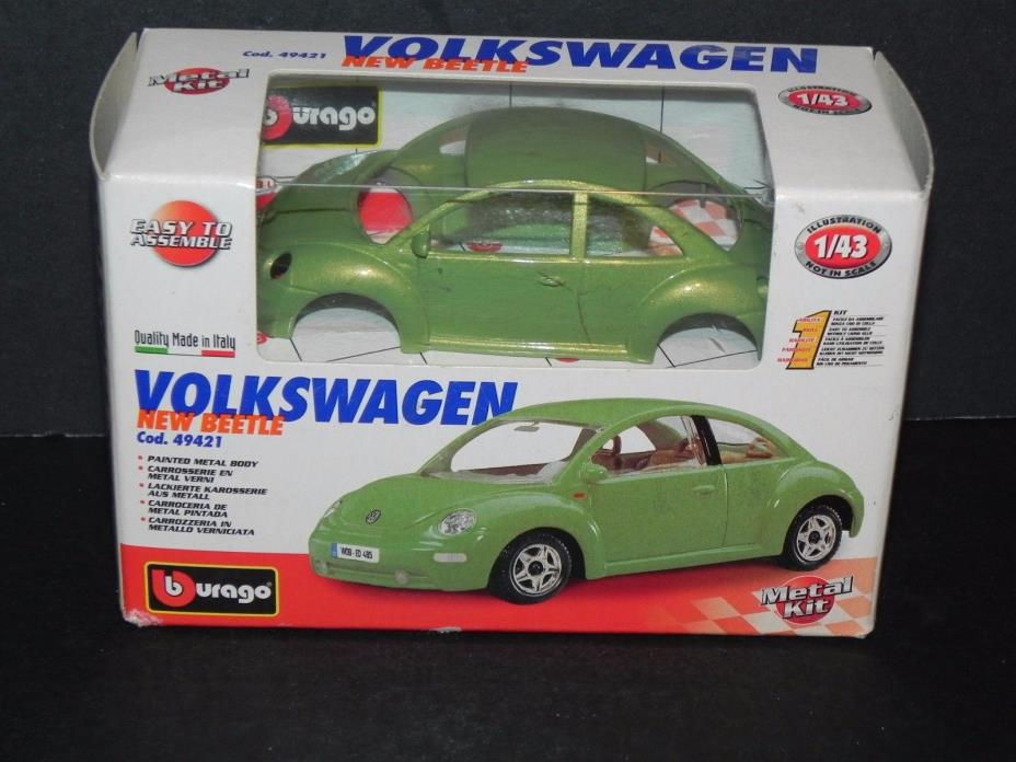 BURAGO VOLKSWAGEN NEW BEETLE 1/43 MODEL KIT - MADE in ITALY  ~ NEW - FREE SHIP!