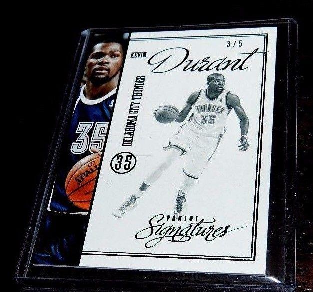 KEVIN DURANT RARE PANINI #3/5 JERSEY CARD #35 RARE 3/5 CARD NBA
