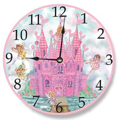 Castle Wall Clock in Pink [ID 3455511]