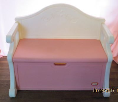 VINTAGE LITTLE TIKES PINK TOY BOX/BENCH  - LOCAL PICK-UP AVAILABLE