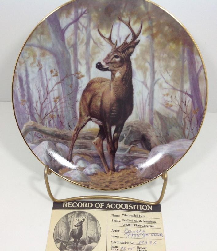 Perillo's N. American Wildlife White-Tailed Deer Hamilton Collection Plate
