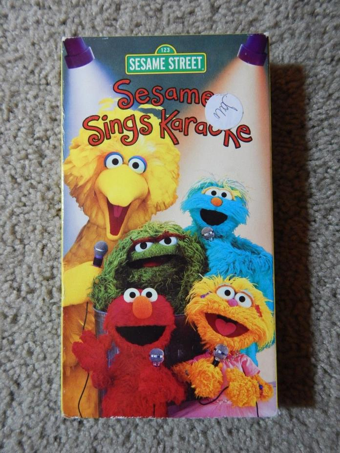 Sesame Street Sings Karaoke VHS Gloria Estefan Ben Stiller Destinys Child