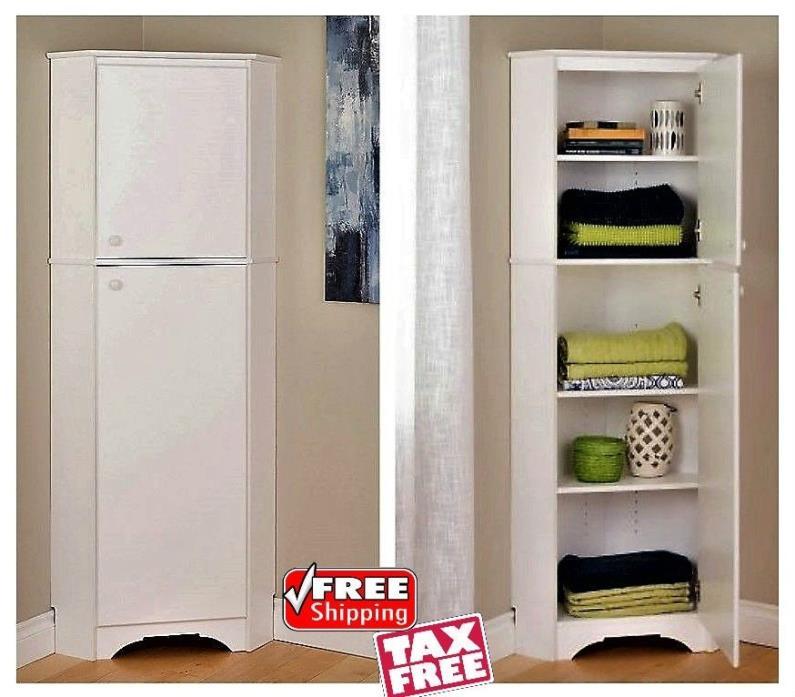Corner Storage Cabinet Kitchen Pantry Cupboard Bedroom Closet Laundry Organizer
