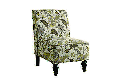Monarch Stylish Inspired Style Brown Gold Floral Traditional Chair I 8125