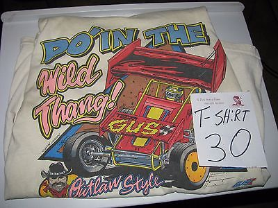 Sprint Car Racing Tee Shirt 1990's Batesville Ar. Speedway dirt track racing[30]