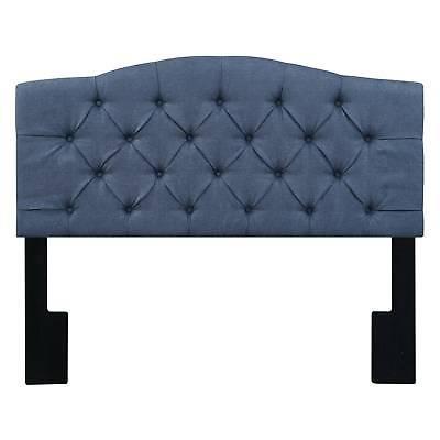 Irving Button Tufted Upholstered Headboard - Denim Darkwash Blue - Pulaski