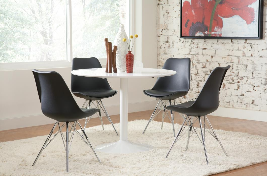 Coaster Leatherette Dining Chair With Black Finish 102682