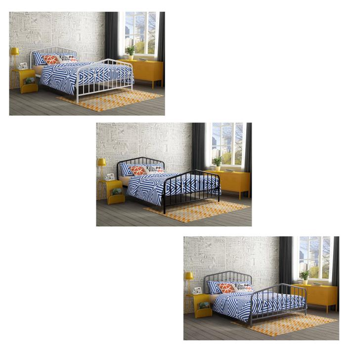 Queen Platform Metal Frame Bed Bedroom Modern Furniture Headboard Footboard