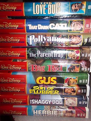 Lot of 9 Walt Disney Film Classics Collection VHS Tapes