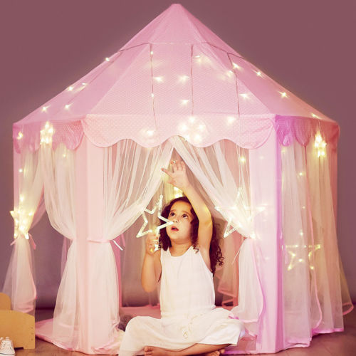 Kids Pink Princess Castle Tent Playhouse for Indoor and Outdoor Use Gift BA