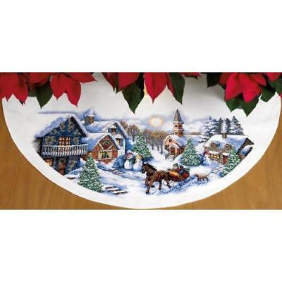 Dimensions Needlecrafts Counted Cross Stitch, Sleigh Ride Tree Skirt New