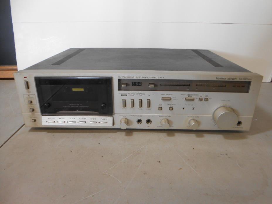 Vintage Harman Kardon HK300xm Ultrawide Band Cassette Deck- For Parts or Repair
