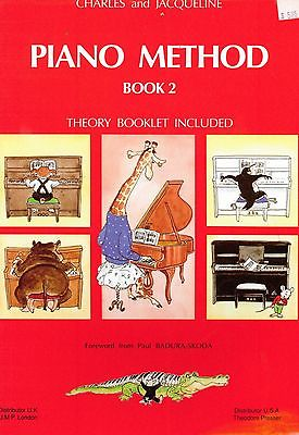Charles & Jacqueline Piano Method Book 2 w Theory Booklet Chords Accidentals