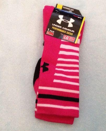 Under Armour Performance Crew Socks, Men's Large 9-12, Heat Gear, 1 Pair