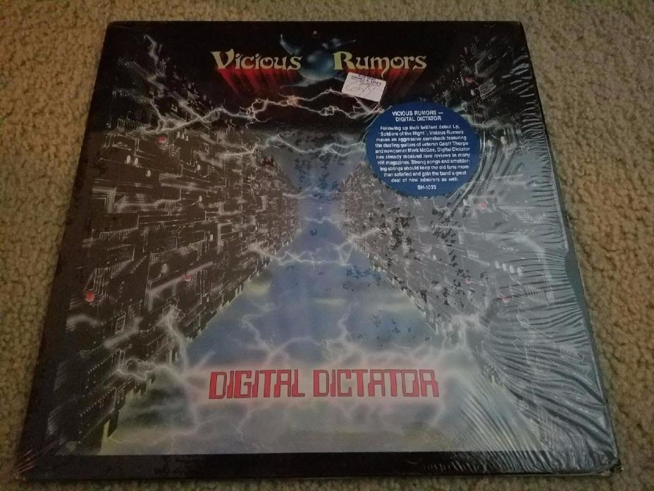 Vicious Rumors: Digital Dictator VINYL LP - Rare Metal - 1987 Shrapnel