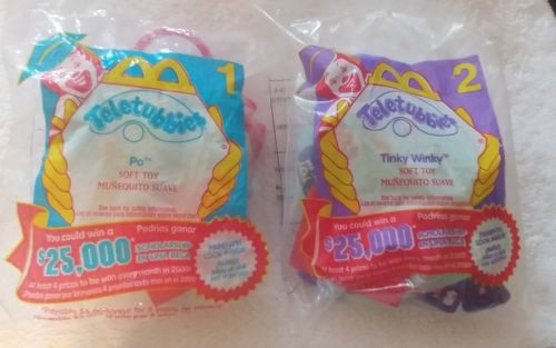 McDonalds Teletubbies, Po & Tinky Winky, New In Package, 2000