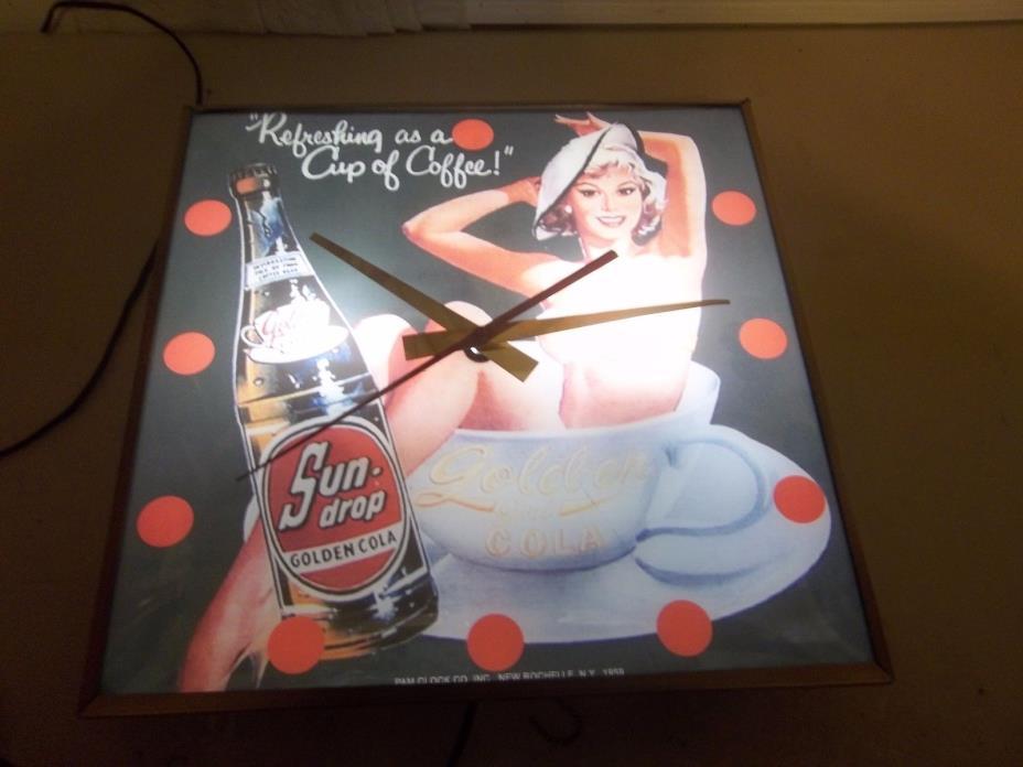 Vintage Pam Clock SUN DROP SODA
