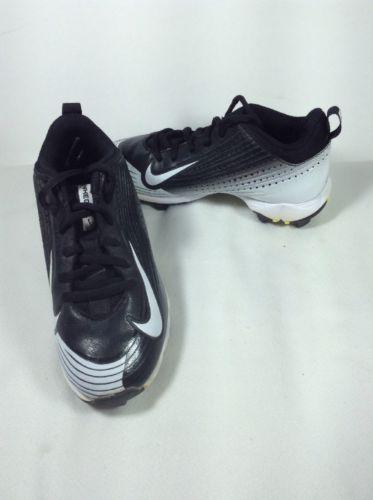 Boy's Nike Vapor Black/White  Baseball Cleats Size 12C