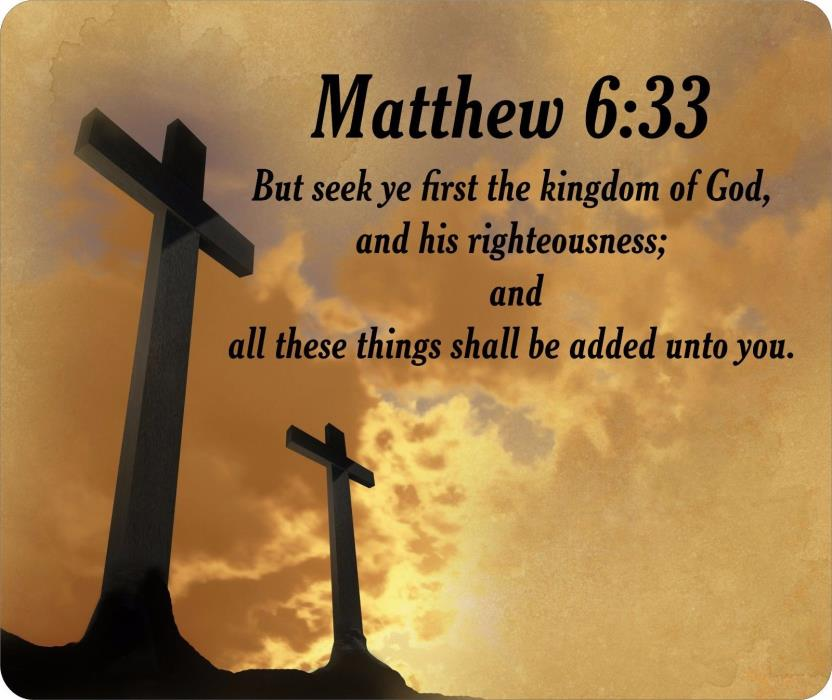 Religious Bible Verse Matthew 6:33 Mouse Pad FREE SHIPPING