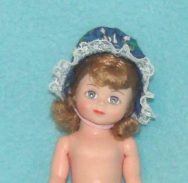 Vintage Madame Alexander Bonnet in Blue for your 7-8