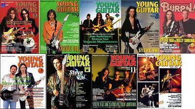 Steve Vai on Cover LOT of 9 Japan Magazines RARE!