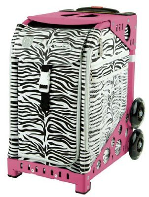 Zuca Zebra Insert Bag & Pink Frame with Flashing Wheels