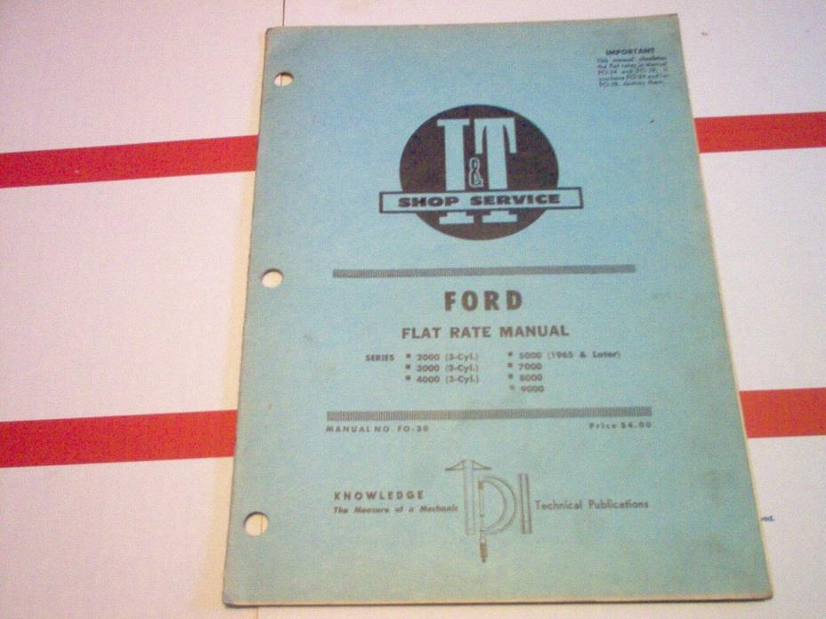 2000 3000 4000 3-cyl./ 5000 65up/ 7000 8000 9000 Ford Flat Rate Manual