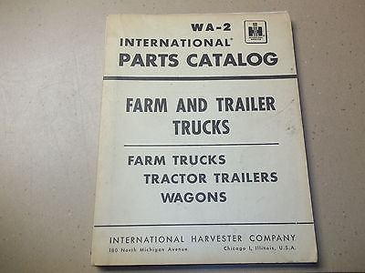 VINTAGE INTERNATIONAL HARVESTER WA-2A FARM TRUCKS TRACTOR TRAILERS PARTS CATALOG