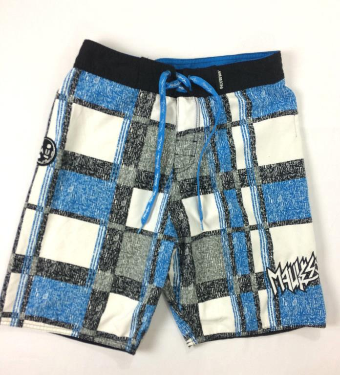 Men's Juniors Size 30 Maui and Sons Tie and Velcro Swim Trunks Boardshorts -Mint