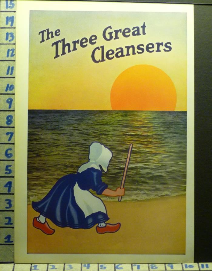 1914 OLD DUTCH CLEAN SOAP WOMAN DETERGENT HOUSEHOLD DECOR VINTAGE AD  U02