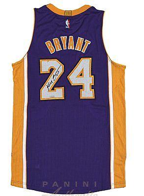 Kobe Bryant Hand Signed Autographed Authentic Purple Jersey LA Lakers Panini COA