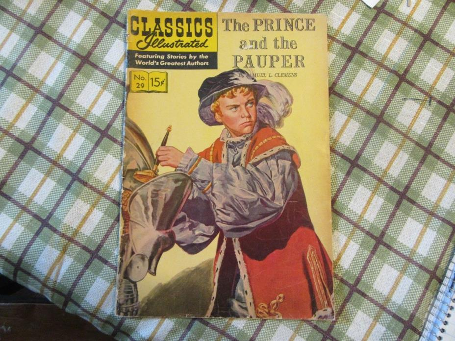 Classics Illustrated #29 Prince and the Pauper   HRN 167
