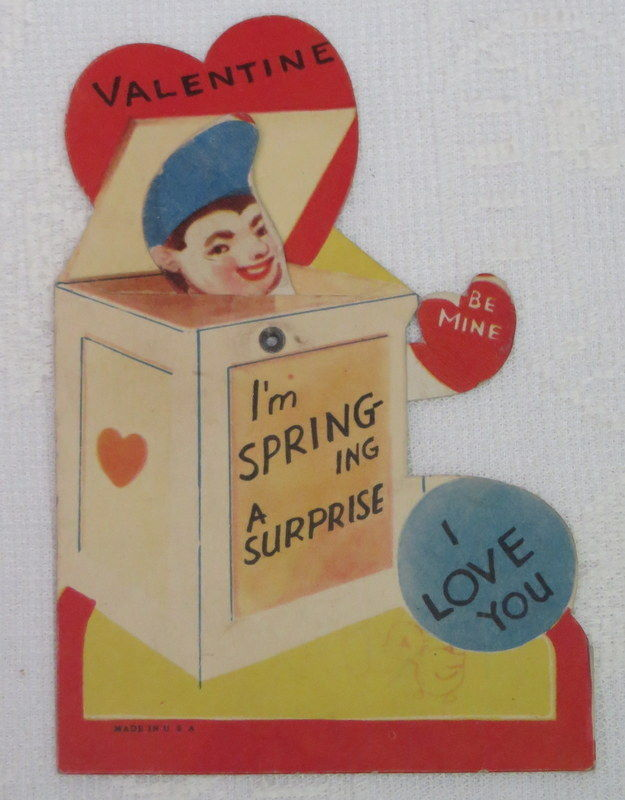 Mechanical Vintage Valentine, Jack in the Box