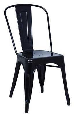 17.32 in. Side Chair in Black Finish - Set of 4 [ID 3103470]