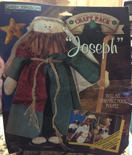 "Daisy Kingdom ""Joseph"" Doll Kit Stitch N Stuff Fabric Craft Pack bible religious"