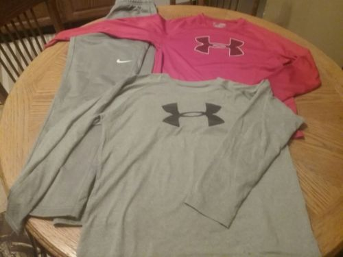 boys nike and under armour lot, large
