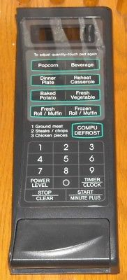 Sharp Carousel Microwave R-409AKD CONTROL PANEL and PUSH BUTTON Charcoal Gray