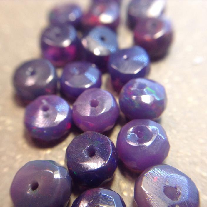 Purple Ethiopian Welo Opal beads