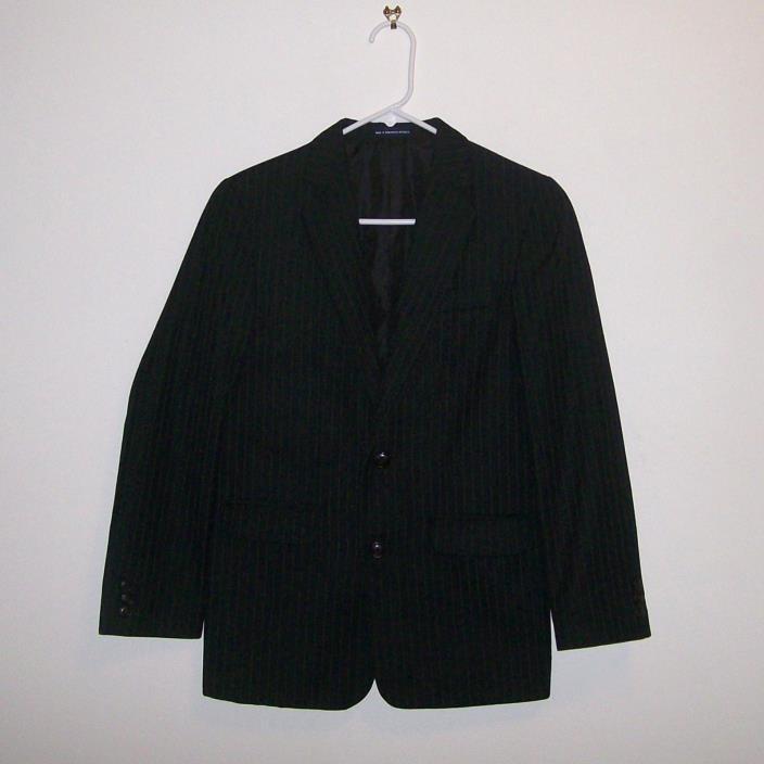 CHAPS Boys' Black Classic Pinstripe Suit Jacket/Blazer Size (14 Reg)