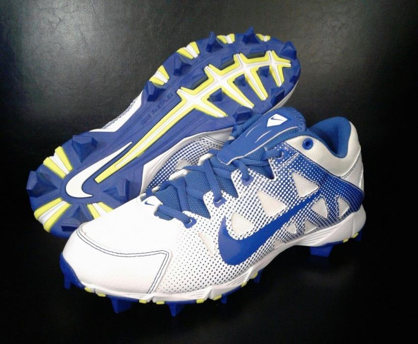 NEW Nike Hyperdiamond Keystone Low Molded Softball Cleats Blue/White Women's 9