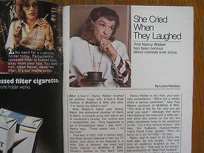 1974  TV  Guide (NANCY WALKER/JOHN DREW BARRYMORE/DUKE ELLINGTON/McMILLAN & WIFE